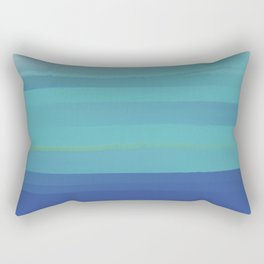 Impressions in Teal and Blue Rectangular Pillow