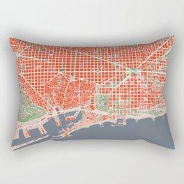 Barcelona city map classic Rectangular Pillow