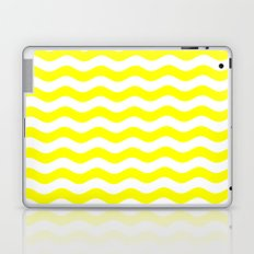 Wavy Stripes (Yellow/White) Laptop & iPad Skin