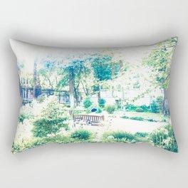 Retrato de dama descansando Rectangular Pillow