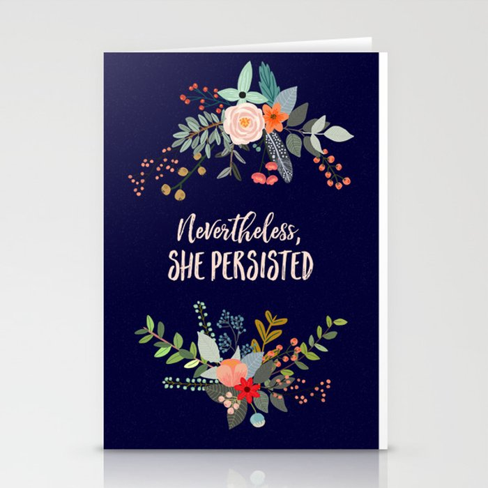 Nevertheless, She Persisted Stationery Cards