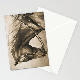 Western Quarter Horse Old Photo Effect Stationery Cards