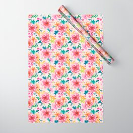 Pink Watercolor Delight Wrapping Paper