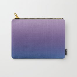 Ultra Violet Blue Lilac Ombre Gradient Pattern Carry-All Pouch