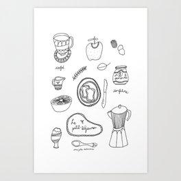 Le petit-déjeuner Art Print