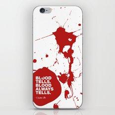 Dexter no.2 iPhone & iPod Skin