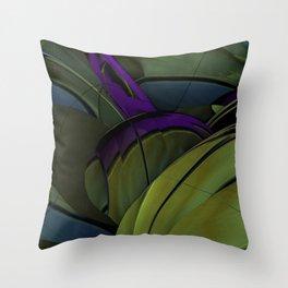 Peacock Green Throw Pillow