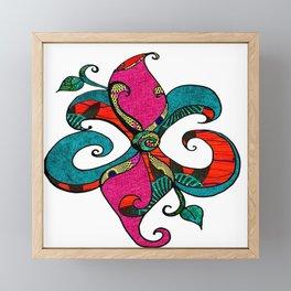 Afropastel Fleur D Lis Framed Mini Art Print