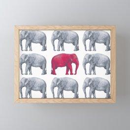 Elephants Red II Framed Mini Art Print