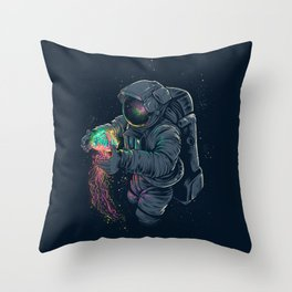 Jellyspace Throw Pillow