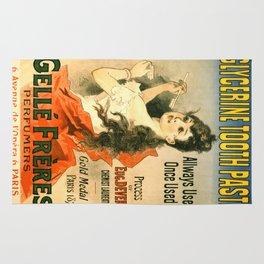 Vintage poster - Glycerine Toothpaste Rug