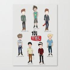 Youtube Boys  Canvas Print
