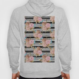 Golden French floral Hoody