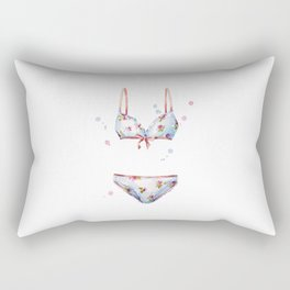 watercolor lingerie Rectangular Pillow