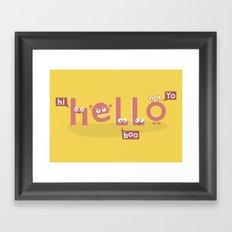 Monster Hello Framed Art Print
