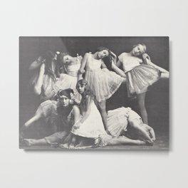 1925 Dance Class, Berlin, Antique Photograph Metal Print