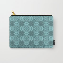 Island Paradise Geometric Floral Carry-All Pouch