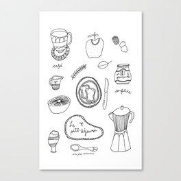 Le petit-déjeuner Canvas Print