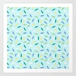 Falling Leaves Pattern Art Print