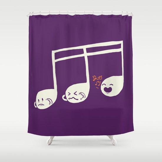 Sounds O.K. (off key) Shower Curtain
