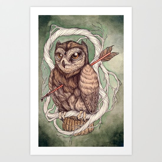Wisdom Wounded by Folly Art Print