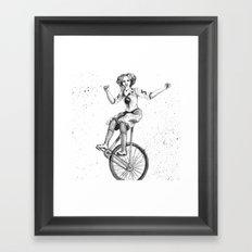 Circus Bicyclist Framed Art Print