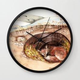Fox's Den Wall Clock