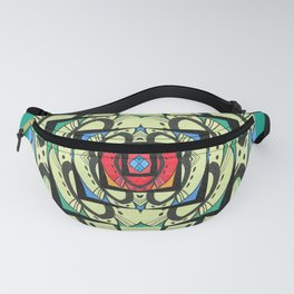 Healing Art Deco Color Therapy Mandala Fanny Pack