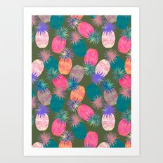 Pina Colada Bright Art Print