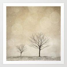 Snow Bokeh Wonderland  Art Print