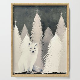 Arctic Wolf Serving Tray