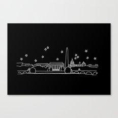 Washington DC City Skyline Canvas Print