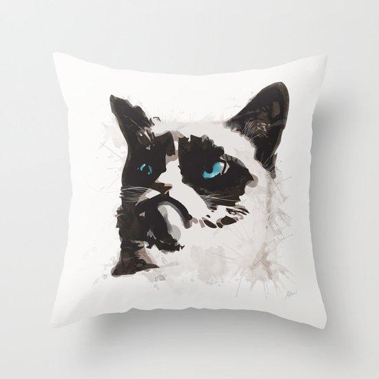 Cat that's Grumpy Throw Pillow