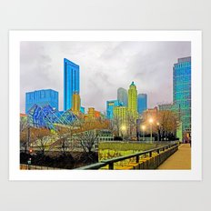 Windy City Cloudy Day Art Print