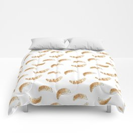 Pattern design with croissants Comforters