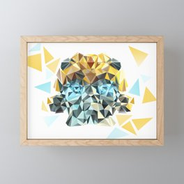 Bumblebee Low Poly Portrait Framed Mini Art Print