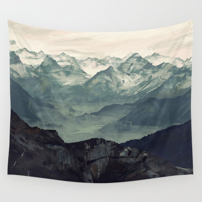 Mountain Fog Wandbehang