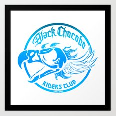 Black Chocobo Riders Club Art Print