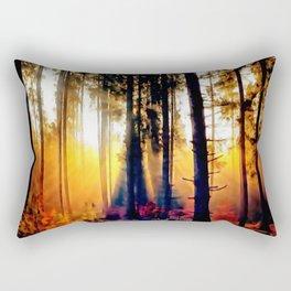 Forest in autumn Rectangular Pillow