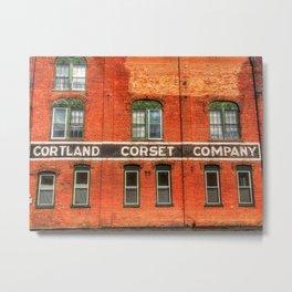 Cortland Corset Company Metal Print