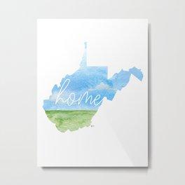 West Virginia Home State Metal Print