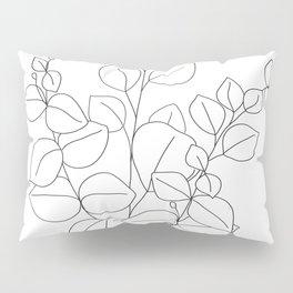 Minimalistic Eucalyptus  Line Art Pillow Sham
