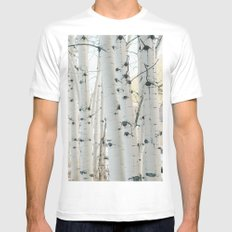 Aspen II MEDIUM White Mens Fitted Tee