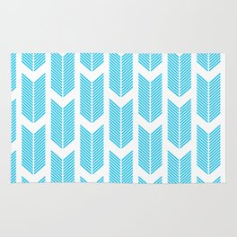 Simple Aqua and white arrow chevron - for your summer on #Society6 Rug