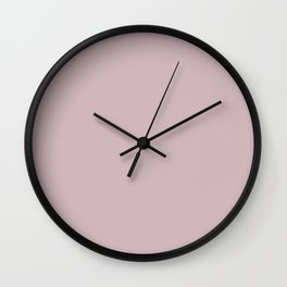 Sherwin Williams Trending Colors of 2019 Delightful (Pale Pastel Pink) SW 6289 Solid Color Wall Clock