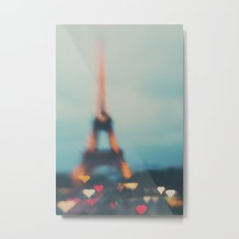 Paris love ...  Metal Print