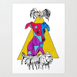 Doggo Doodle Art Print