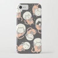 iPhone Cases featuring Cat-Stronauts by Drew Brockington