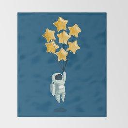 Astronaut's dream Throw Blanket