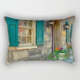 A Victorian Tea Room Rectangular Pillow